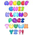 fat bubble alphabet vector image
