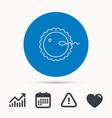 fertilization icon pregnancy sign vector image