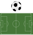 Football ball and soccer field vector image