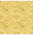 Geometric yellow camouflage seamless pattern vector image