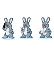 Gray Bunny Mascot with laptop vector image