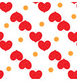 heart red and polka seamless pattern vector image