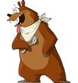 hungry bear vector image