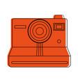 instant film photographic camera icon image vector image
