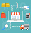 set of concept for marketing and shopping vector image