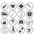 Basic Medical Icons Collection vector image