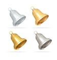 Christmas bell set on white background vector image