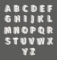 isometric font set isolated on grey background vector image