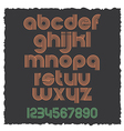 Small Letters retro style eps10 vector image