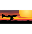 travel by airplane vector image