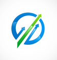 arrow business finance market logo vector image
