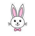 cute rabbit icon vector image