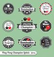 Ping Pong Champion Labels vector image