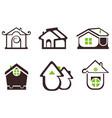 real estate design elements set vector image