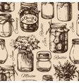 Rustic mason and canning jar vector image