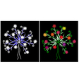 Spring and winter tree vector image