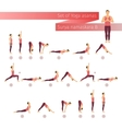 yoga set in flat style vector image