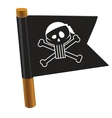 Black flag with pirate symbol vector image