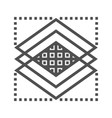 layers line icon vector image vector image