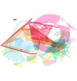 abstract colorful composition vector image