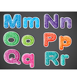 Five consonant and one vowel letters vector image vector image