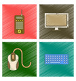 assembly flat shading style icon office computer vector image