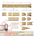papyrus tags horizontal - do it yourself kit vector image