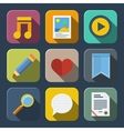 Media icons pack vector image