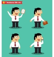 Businessman in poses standing set vector image vector image