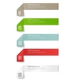 Modern business origami style options banner vector image