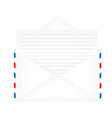 Opened envelope with paper vector image