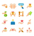 Donate And Giving Icon Set vector image