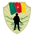 Army of Cameroon vector image
