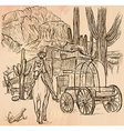Wild West Sheriff - An hand drawn vector image