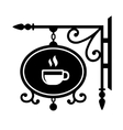 Ancient street signboard coffee house vector image