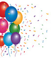 decoration party celerbation confetti and balloons vector image