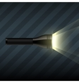 flashlight on dark striped background vector image