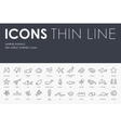 Marine Animals Thin Line Icons vector image