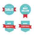 Merry Christmas sale badges vector image