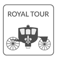 royal tour sign vector image