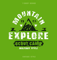 Scout camp badge vector image