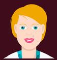 Woman portrait blonde pretty female avatar vector image
