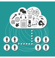 Cloud system User Interface vector image