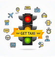 get taxi concept vector image vector image