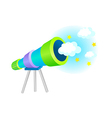 A telescope stand on vector image vector image
