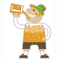 man drinking a lot of beer oktoberfest isola vector image vector image