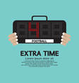 Extra Time vector image