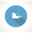 search folder icon vector image vector image