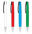 Office pens and pencils vector image vector image