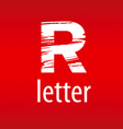 Abstract logo letter R in the form of print vector image
